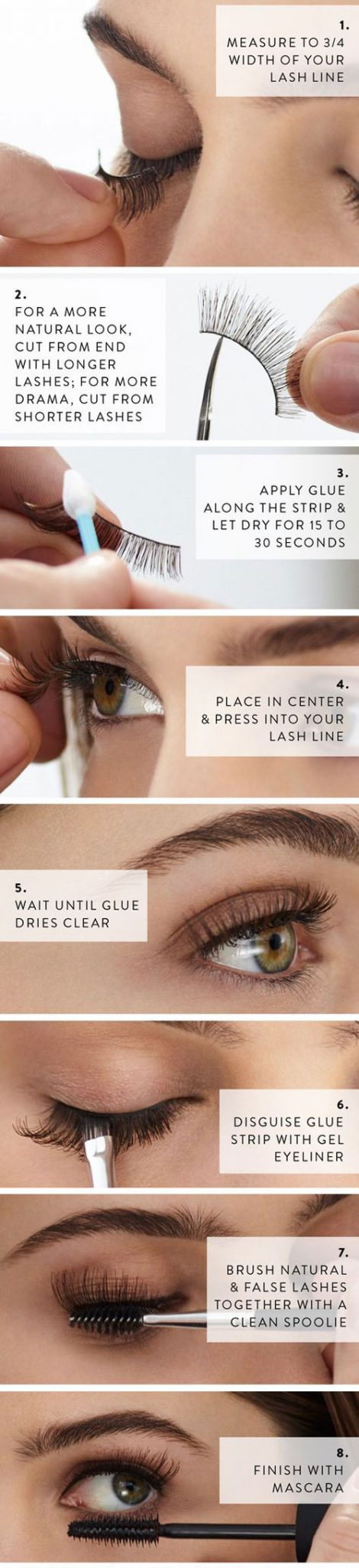 How To Apply False Eyelashes For The First Time With Pictures