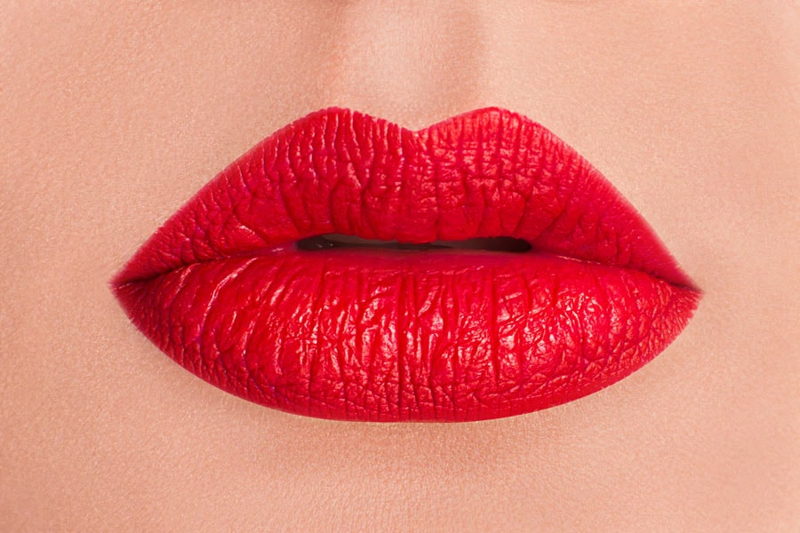 swipe on a red lipstick to wear with your little black dress